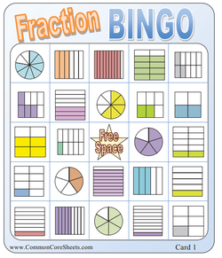 station 2 fraction bingo fractions. Black Bedroom Furniture Sets. Home Design Ideas